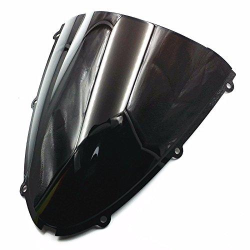 Noir pare-brise pare-brise pour Ninja Zx6r ZX 6R 636 05-08 Zx10r 06-07