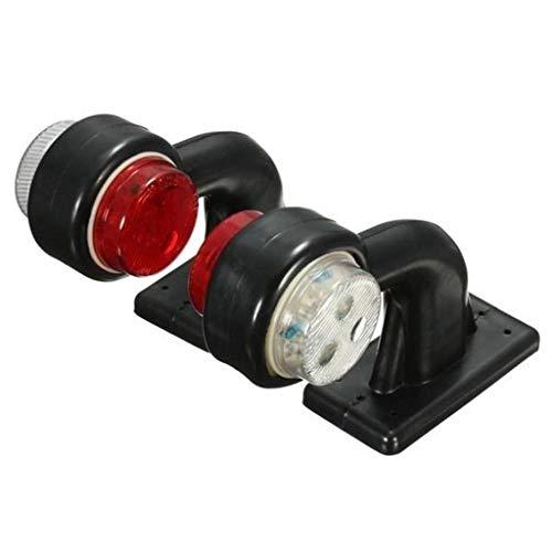LIskybird Seitenmarkierungsleuchten mit 12 LEDs, Weiß/Rot, kompatibel mit 24 V Anhänger/LKW, 2 Stück