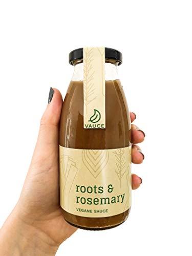 Vauce - Vegane Bratensauce 'Roots & Rosemary' (250ml) | 100% bio, regional und natürlich, Bratensoße vegan, Soße braun