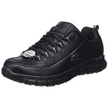 Skechers SURE TRACK - TRICKEL, Women's Safety Shoes, Black (Black Leather Blk), 4 UK (37 EU)