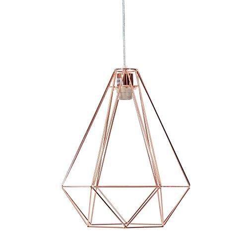 Design Indispensable - Métal - Couleur cuivre - 41 x 33 cm - Suspension