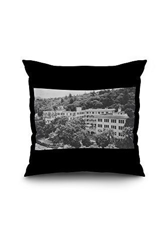 st-helena-sanitarium-in-sanitarium-ca-photograph-20x20-spun-polyester-pillow-case-black-border