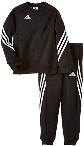 adidas Unisex - Kinder Trainingsanzug Sere14 Sweat Y, schwarz/weiß, 128, F81932