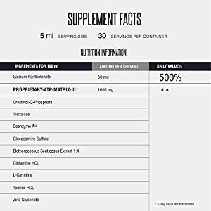 XXTRAA Bodybuilding Preworkout Energy Performance Booster | Pre-workout Liquid Creatine, L Carnitine & Taurine Serum to Increase Strength, Endurance, Stamina | Bioavailable ATP Supplement Drops from MMUSA