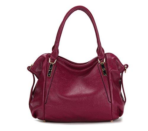 Borsette PACK Moda Cuoio Donne Medio Esaio Borsa Selvatica Selvatica Borsa High End Trendy Fashion Security,C:SapphireBlue D:Purple