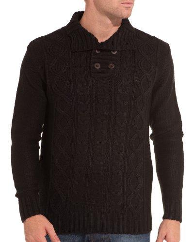 BLZ jeans - Schwarzer Pullover vereint Schwarz