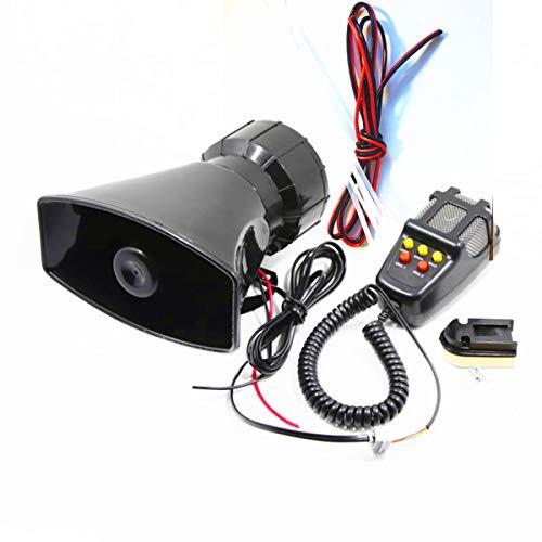 Preisvergleich Produktbild Auto Sirene Lautsprecher megafon hupe Sirene Alarm 12 V 80 W Auto Sirene Fahrzeug Horn mit Mikrofon Lautsprecher System Notfall Sound Verstärker Cars Vans Truck
