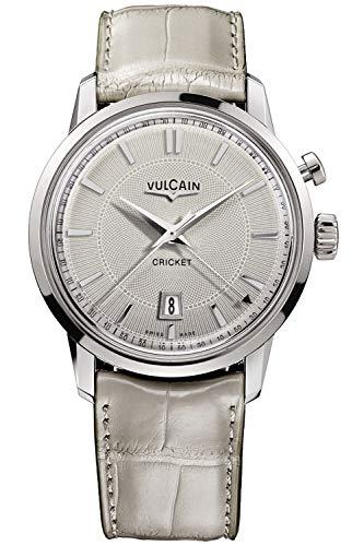 Vulcain Cricket 50s Presidents Herren Uhr analog Handaufzugwerk mit Leder Armband 110151G70.BAL130