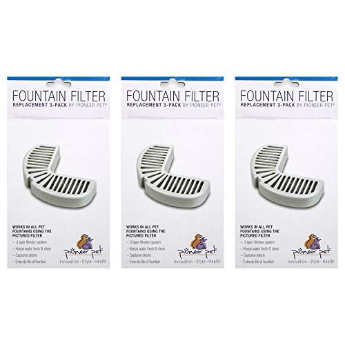 PioneerPet Big Max & Raindrop Fountain Filters Combo Pack (9 Filters)