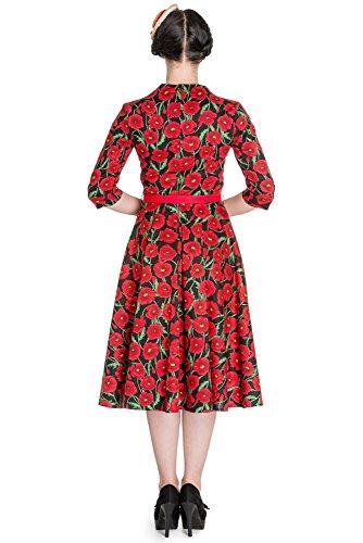 Bunny robe rouge clair 50 's robe 4401 Noir - Noir