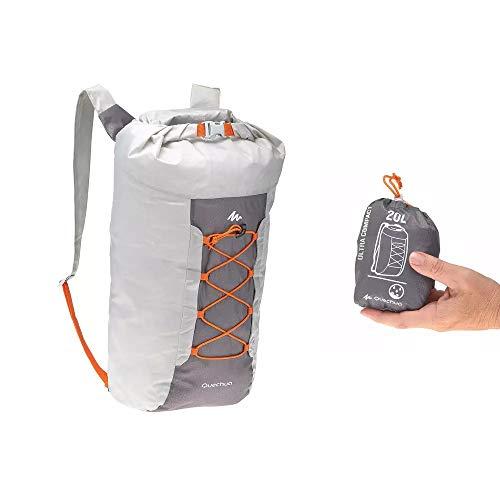 Quechua Rucksack Travel Ultrakompakt 20 Liter Wasserdicht (GRAU)