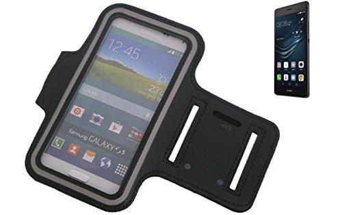 Montare neoprene bracciale Jogging Case / Sport Armband / involucro Sport / Sport / Alta Armband per Huawei P9 Lite in nero, con riflettore. Universal Fitness fascia da braccio per l'uso esterno del Huawei P9 Lite. Con l'assunzione di cuffie / auricolari è possibile anche ascoltare la musica durante l'allenamento con i tuoi Huawei P9 Lite. Nello scomparto chiave pratico portare la chiave di casa in determinate. Braccialetto wristband di alta qualità,