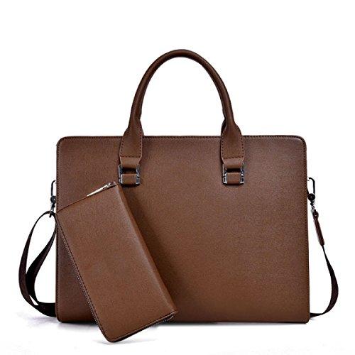 Handtaschen-Geschäfts-Paket-Mann-Beutel-Stereotypen-Mann-Beutel-Handtaschen-Aktenkoffer-Aktenkoffer-Mann-Beutel Brown
