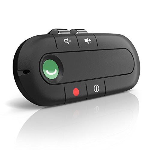 Aplic - Bluetooth Auto Freisprecheinrichtung | Wireless Bluetooth-Freisprechanlage | Handsfree Car-Kit | ca. 10 m Reichweite | ca. 6 Stunden Gesprächszeit | integr. Akku + Lautsprecher | LED-Anzeige | Multipoint | Haltemagnet