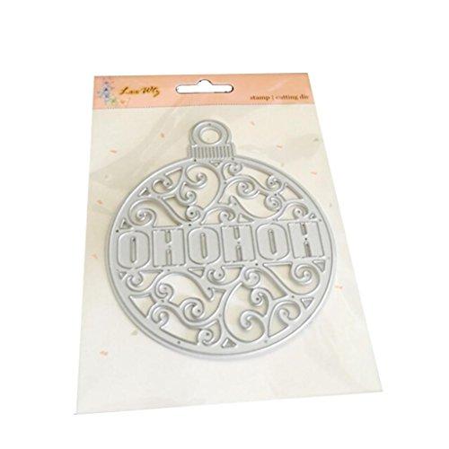 n Halloween Exquisite Papier Decor Formen Schablone Scrapbooking DIY Handarbeit, silberfarben, I (Halloween-die Grenzen Für Die Seiten)