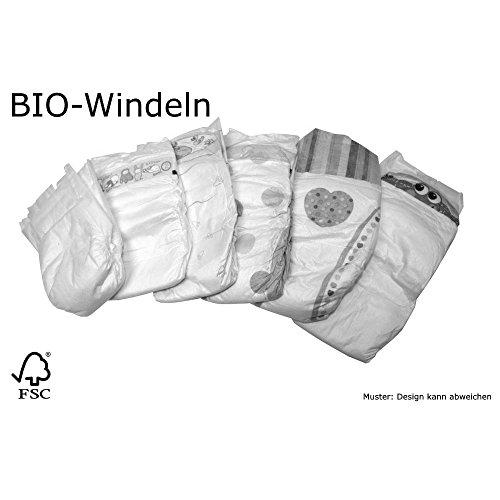 BIO Babywindeln Einwegwindeln MINI MIDI MAXI JUNIOR Windel Gr 2 Gr 3 Gr 4 Gr 5 Großpackung Karton (Größe 5 Junior von 15 bis 25 kg 140 Stück)