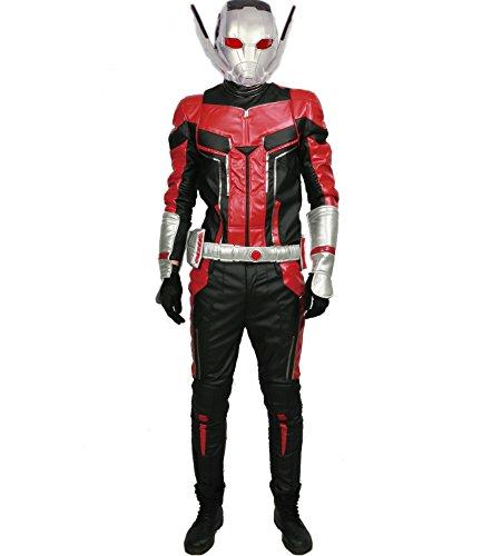 Kostüm Herren Cosplay PU-Leder Outfit Jacke mit Zubehör für Film Verrücktes Kleid Kleidung 2018 (Custom Made) (Ant Man Kostüm Kinder)