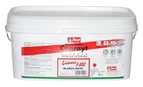 RAYT-CONRAYT I-100 ACRÍLICA - 344-20 Pintura plástica blanco mate, interior-exterior - 2 lt