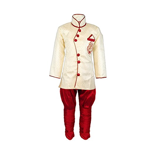 JBN Creation Boys Silk Angrakha Style Indo Western with Jodhpuri Breeches (VASBSW002_24_b_Cream_2-3...