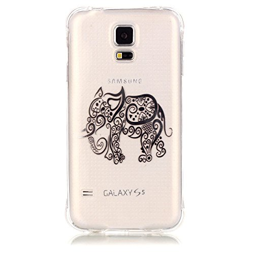 inShang Samsung Galaxy S5 2014 Coque Housse de Protection Etui 4,7 inch [Transparent Coque d'Samsung Galaxy] [bronzante technologie 3D image],Ultra mince et léger Case Cover de protection pour Samsung Galaxy S5 2014 4,7 inch