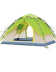 pengweiHidr¨¢ulica autom¨¢tica tienda de camping al aire libre suministra 3-4 personas doble techo de camping de lluvia , 9