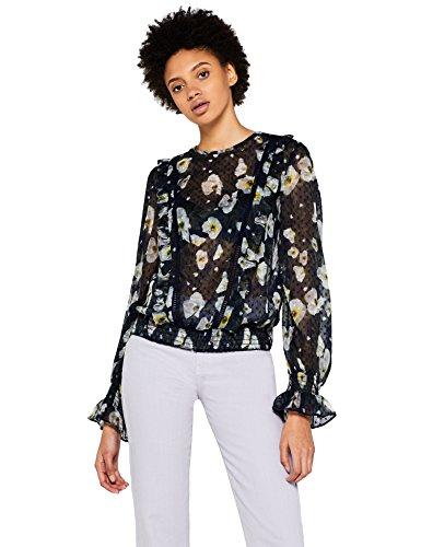 FIND Blusa de Flores Transparente Mujer,...