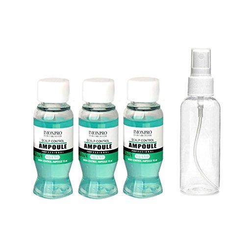 Anti-haar-verlust-shampoo (Imonpro Haar-Ampullen Kopfhaut-Kontrolle 3 x 15ml mit Spray-Flasche - Kopfhaut-Behandlung für empfindliche juckende Anti-Schuppen Anti-Aging / Relief Juckreiz von Rosemari No1 Korean Professional Ampulle)