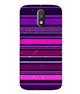 Citydreamz Multicolor Stripes/Shapes Hard Polycarbonate Designer Back Case Cover For Motorola Moto G4 (4th Gen.)