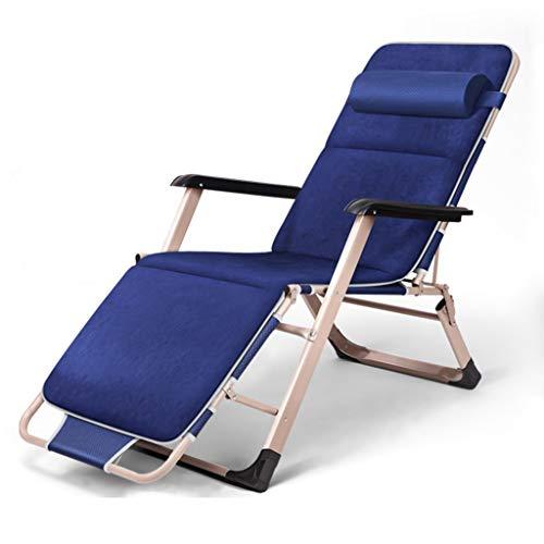Zcxbhd Sonnenliege faltbar Klappbarer Deck Chair Liegender Gartenstuhl Hirschleder Samtunterlage...