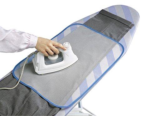 2 Stück Bügelhilfe Gitternetz-Bügeltuch für Bügelbrett, für Seide, Nylon, Perlon, und andere Empfindliche Stoffe (Seide Samt Decke)