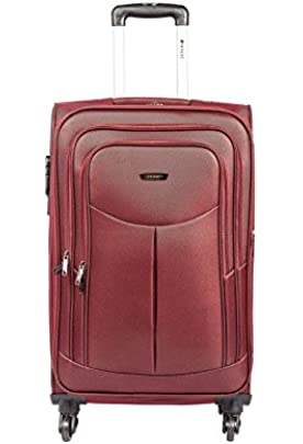 Safari Polyester Red Softsided Suitcase  Tergo 67 Red 4w
