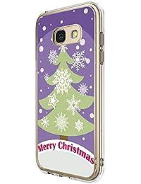 679ea66b9e4 Funda Samsung Galaxy A5 2017 Cárcasa Silicona Transparente con Dibujos  Navidad Diseño Carcasa Suave Gel TPU