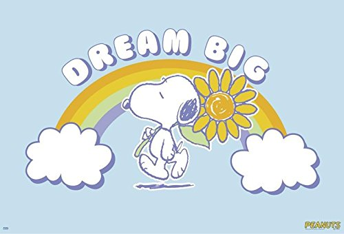 Peanuts Snoopy Poster (91,5cm x 61cm) + 1 Traumstrand Poster Insel Bora Bora Zusätzlich