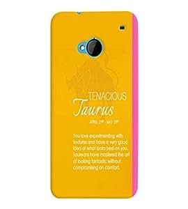 Fuson Premium Tenacious Taurus Printed Hard Plastic Back Case Cover for HTC One M7