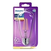 Philips LED Classic 60W ST64 E27 Non-Dim 2700K LED Filament Ampul