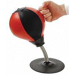 Idea Regalo - Tioamy Sacco da boxe da tavolo Stress Buster con borsa da tavolo Speed Pack con supporto per ansia pesante Kit accessorio freestanding per adulti e bambini
