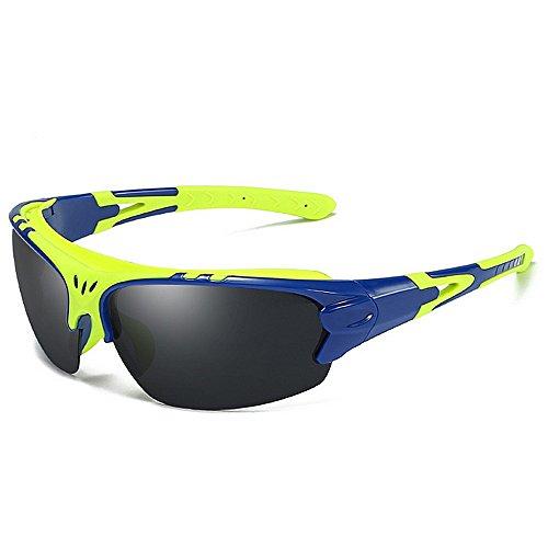 Doxtecret Herren Radsportbrille Mode Sonnenbrille UV-Schutz Strahlenresistenz Starker Wind Ultraleichtes Design Stilvoll Langlebig Festes Material Qualitätssicherung Niemals Enden (Farbe : Blau)