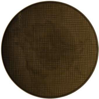 Rosenthal 11770-405151-10873 Mesh Colours - Teller/Speiseteller - Walnut/Braun - Flach - Ø 33 cm