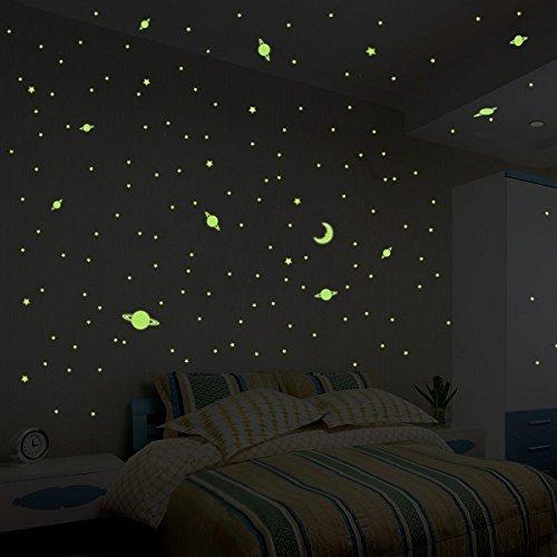 Ambiance-Live Stickers Voie Lactée Phosphorescente - 390 étoiles et planètes