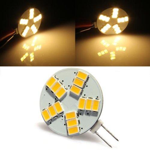 TOOGOO (R) 4W G4 Lampada Lampadina 15 LED 5630 SMD Luce Bianco Caldo 3000K 240LM