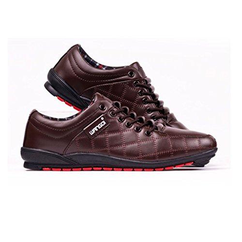 Oriskey Chaussures de Ville à Lacet Homme Cuir Oxfords Casual Chaussons Marron
