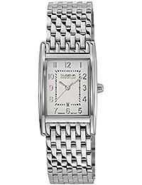 Dugena Damen-Armbanduhr Quadra Artdeco - Traditional Classic Analog Quarz Edelstahl 7000124