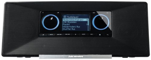 MEDION LIFE P85024 (MD 86698) Wireless LAN WLAN Internet Radio (DLNA, UPnP, UKW, USB, 6,1 cm/2,4 Zoll, 2x 5W) schwarz