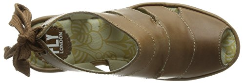 FLY London Yown, Ballerines Femme Marron (Rug Camel)