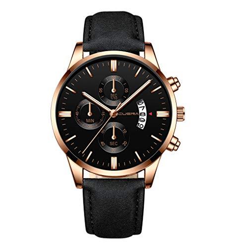 Quartz Uhren für Herren, Skxinn Herrenuhren,Männer Armbanduhr Analog Business Minimalistische Quartz Armbanduhren mit Kunstlederband, Ausverkauf(J,One Size)