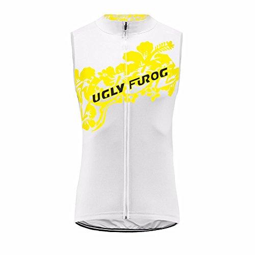 Uglyfrog Fahrradbekleidung Damen Ärmellos Radsport Trikots & Shirt Sport & Freizeit Frühjahr Style Full Zipper Mountainbike-Clothes SLW05