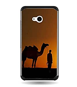 PrintVisa Sunset Of Jaisalmer High Glossy Metal Designer Back Case Cover for Microsoft Lumia 640 :: Nokia Lumia 640