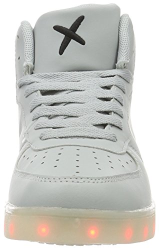 Wize & Ope LED-Hi, Baskets Basses Mixte Adulte Gris - Grau (Grey 05)