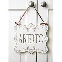 ABIERTO/CERRADO – letrero colgante de madera doble cara para la puerta de una tienda