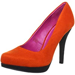 Ladystar by Daniela Katzenberger Kirstin 06 LK1056, Damen Pumps, Orange (orange-schwarz 853), EU 39